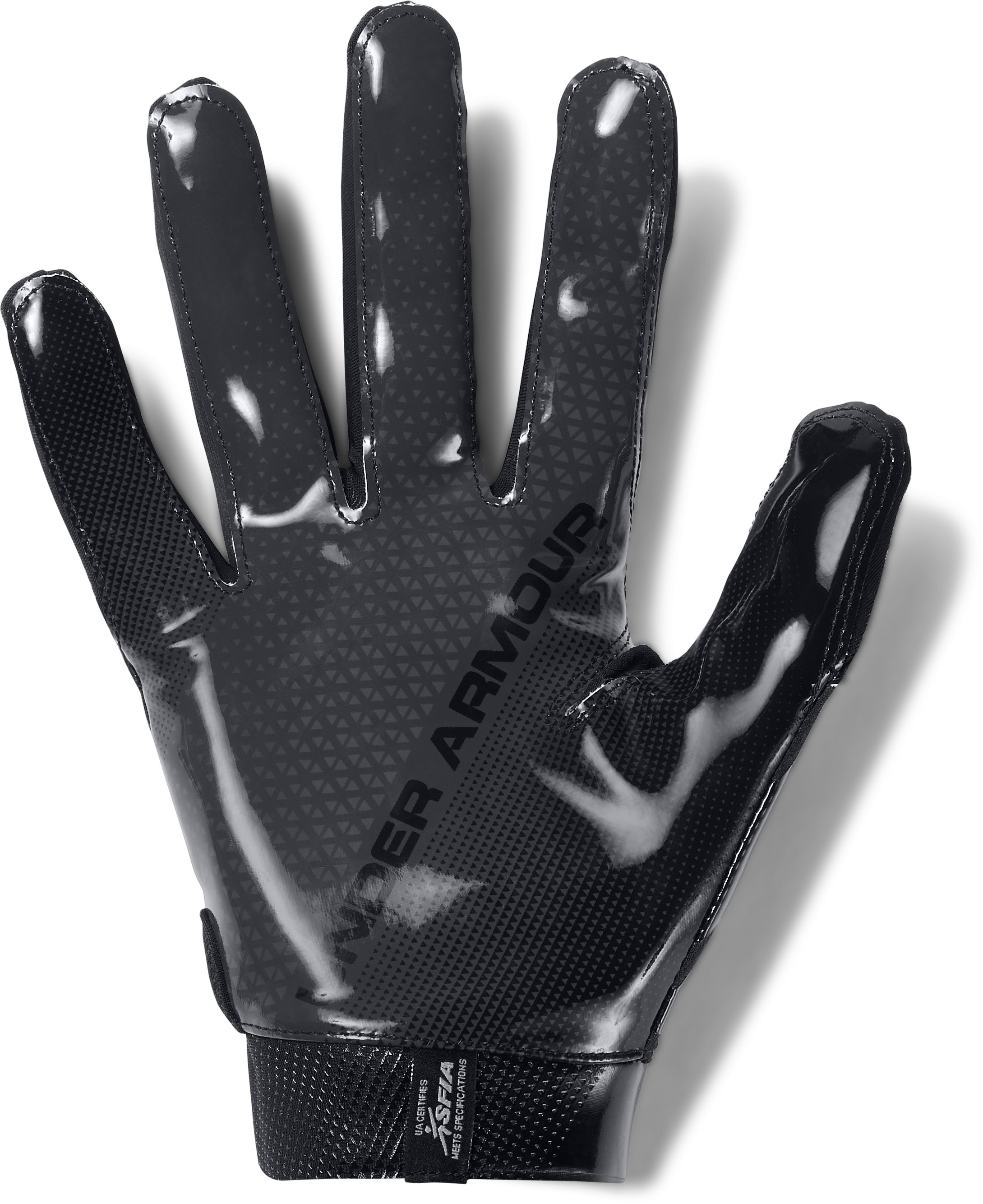 Men's UA Spotlight- NFL Football Gloves, Black , undefined
