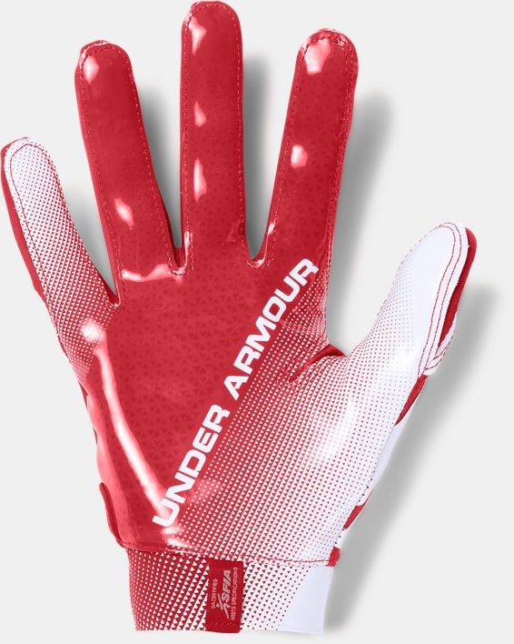 Men's UA Spotlight- NFL Football Gloves, Red, pdpMainDesktop image number 1