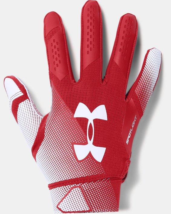 Men's UA Spotlight- NFL Football Gloves, Red, pdpMainDesktop image number 0