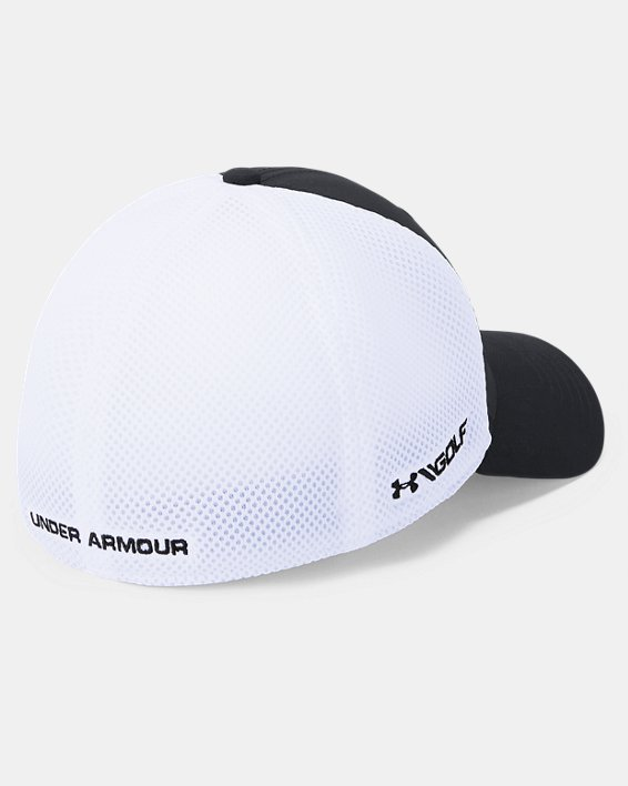 Men's UA Microthread Golf Mesh Cap, Black, pdpMainDesktop image number 1
