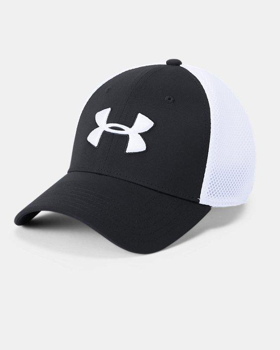 Men's UA Microthread Golf Mesh Cap, Black, pdpMainDesktop image number 0