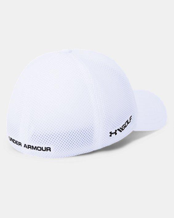 Men's UA Microthread Golf Mesh Cap, White, pdpMainDesktop image number 1