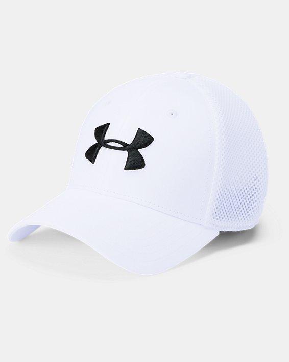 Men's UA Microthread Golf Mesh Cap, White, pdpMainDesktop image number 0