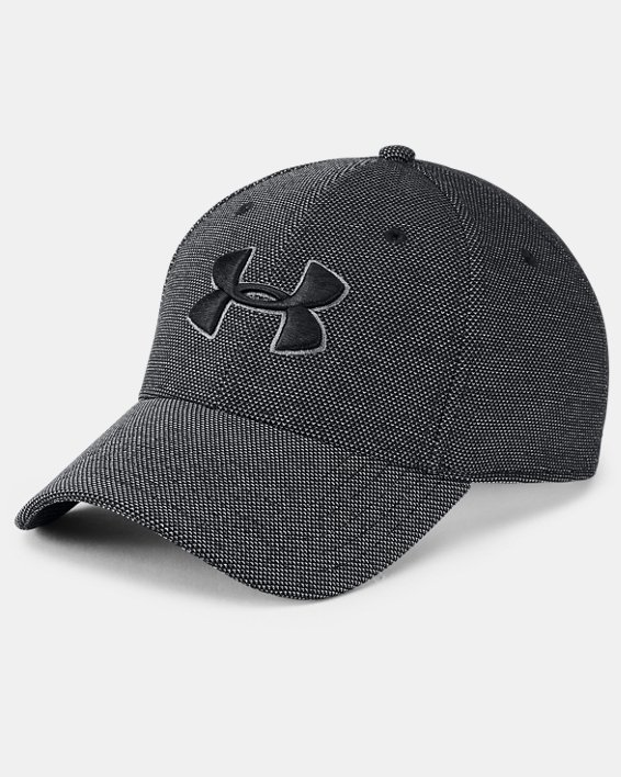 Men's UA Heathered Blitzing 3.0 Cap, Black, pdpMainDesktop image number 0