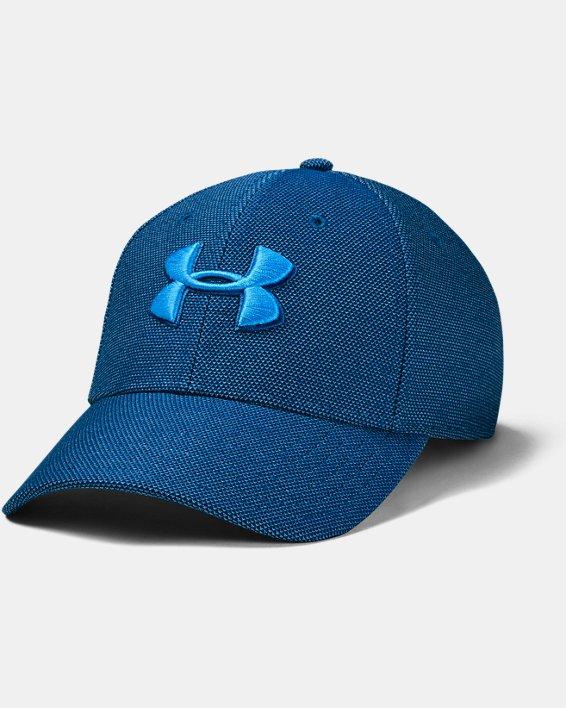 Men's UA Heathered Blitzing 3.0 Cap, Blue, pdpMainDesktop image number 0