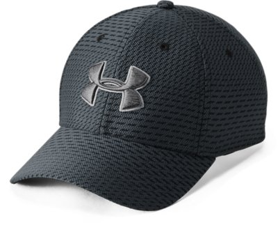 Under armour UA Hat Team Blitzing Stretch Fit cap embroidery Grey White logo