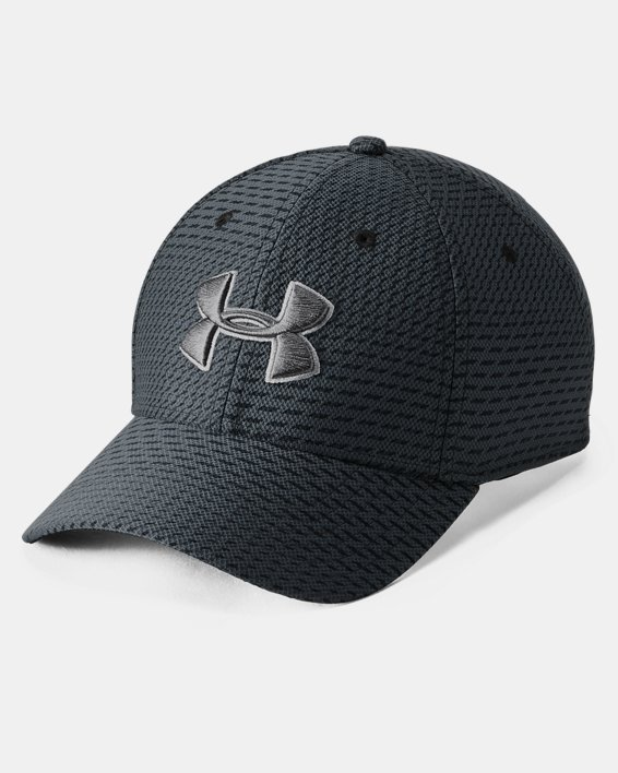 Men's UA Printed Blitzing 3.0 Stretch Fit Cap, Black, pdpMainDesktop image number 0
