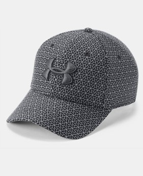 Men's UA Printed Blitzing 3.0 Stretch Fit Cap  1  Color Available $32