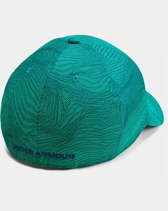 Men's UA Printed Blitzing 3.0 Stretch Fit Cap, Green, pdpMainDesktop image number 1