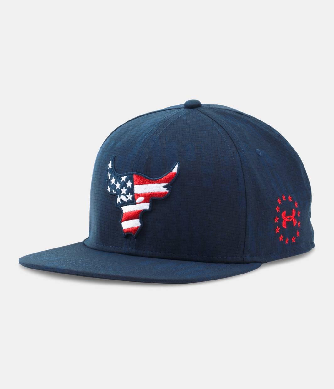 Men S Ua X Project Rock Freedom Snapback Cap Under Armour Us