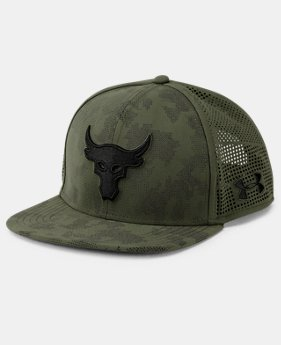 Best Seller UA x Project Rock SuperVent Snapback Cap  3 Colors $34.99
