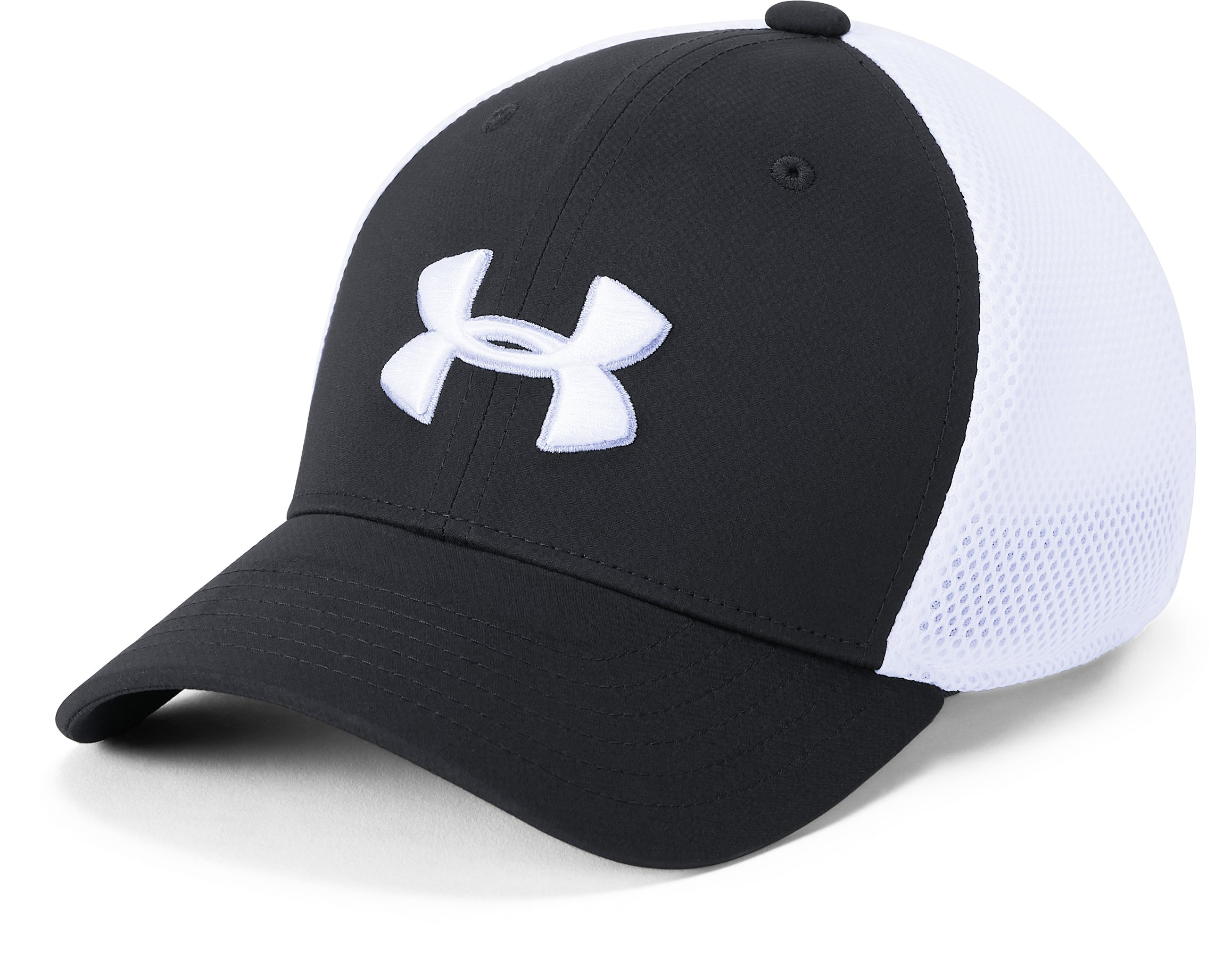 Boys' UA Microthread Golf Mesh Cap, Black ,