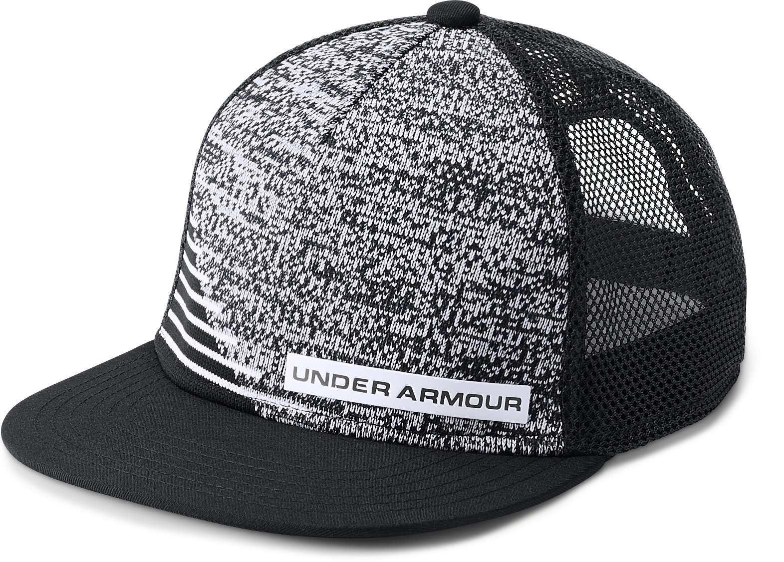 Boys' UA Twist Knit 2.0 Cap, Black , undefined