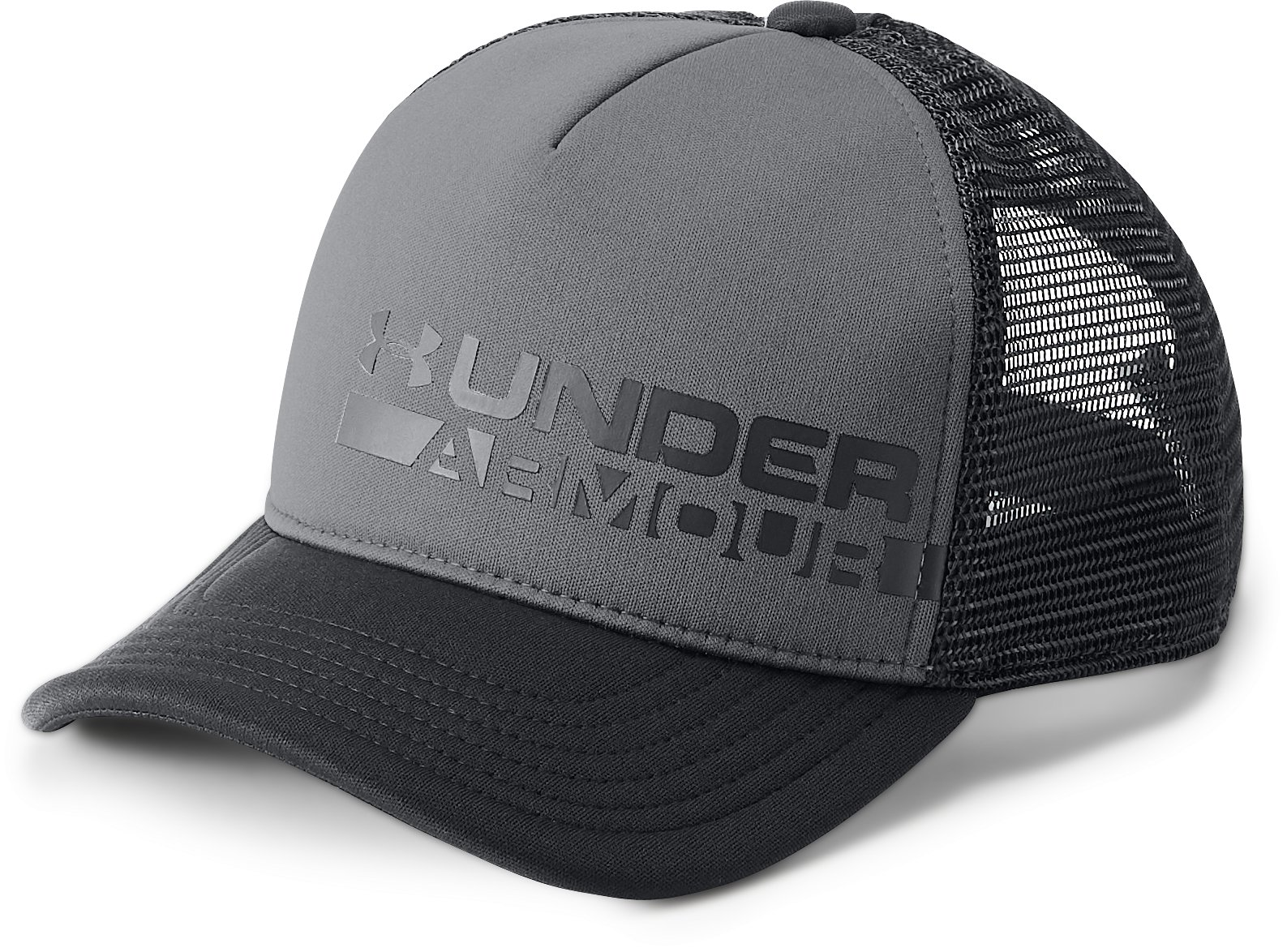Boys' UA Novelty Trucker Cap, Graphite,