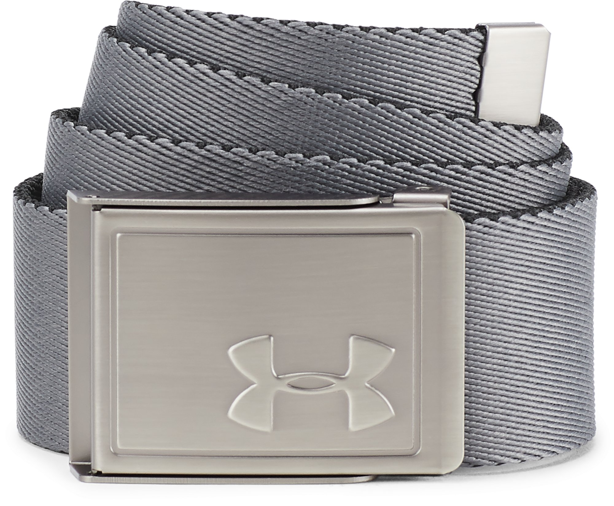 Boys' UA Solid Webbing Belt, Black