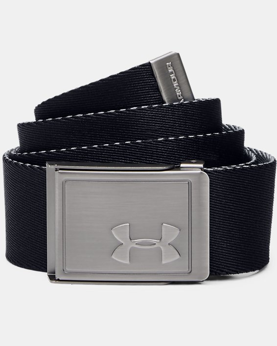 Boys' UA Solid Webbing Belt, Black, pdpMainDesktop image number 0