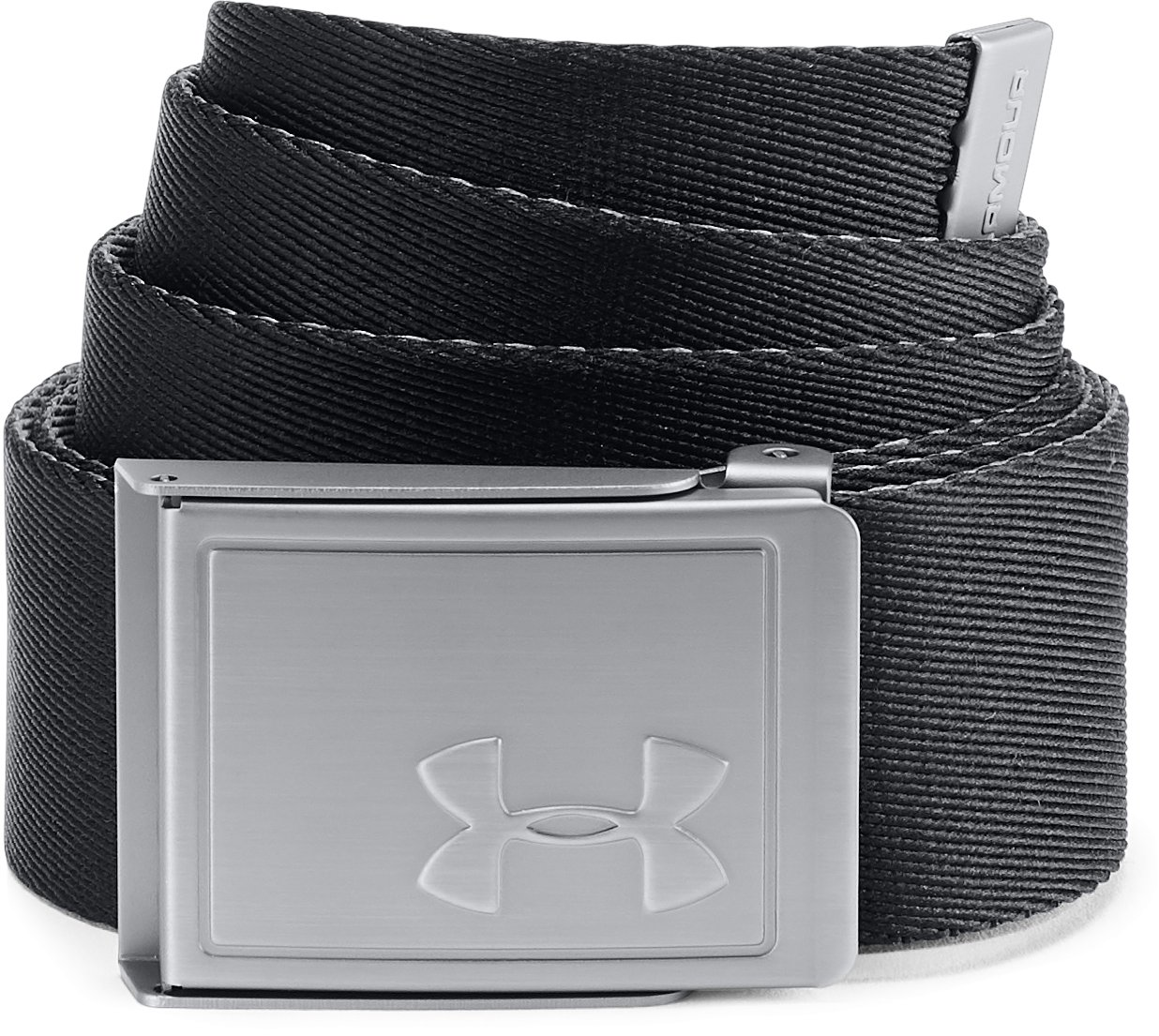 Men's UA Webbing Belt 2.0, Black ,