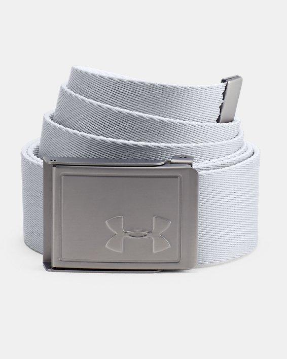 Men's UA Webbing Belt 2.0, White, pdpMainDesktop image number 1