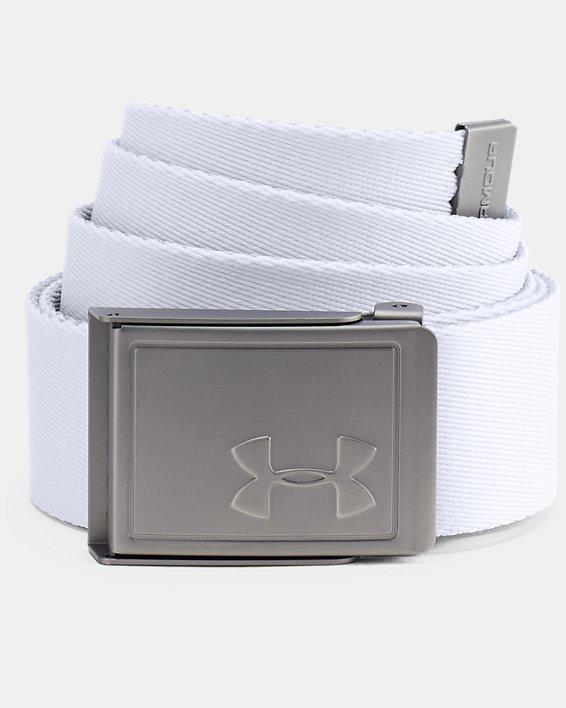 Men's UA Webbing Belt 2.0, White, pdpMainDesktop image number 0