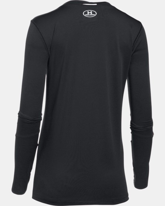 Women's UA Locker 2.0 Long Sleeve, Black, pdpMainDesktop image number 5