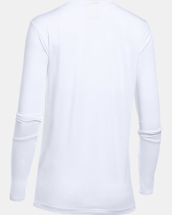 Women's UA Locker 2.0 Long Sleeve, White, pdpMainDesktop image number 5