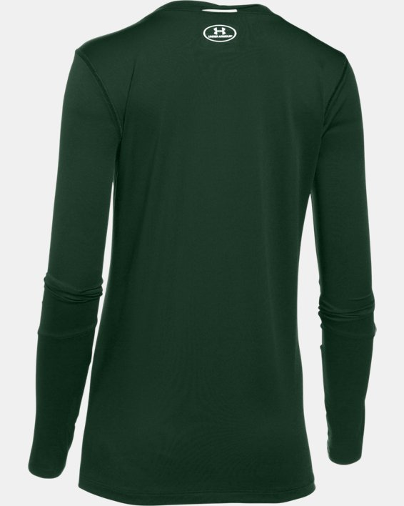 Women's UA Locker 2.0 Long Sleeve, Green, pdpMainDesktop image number 6