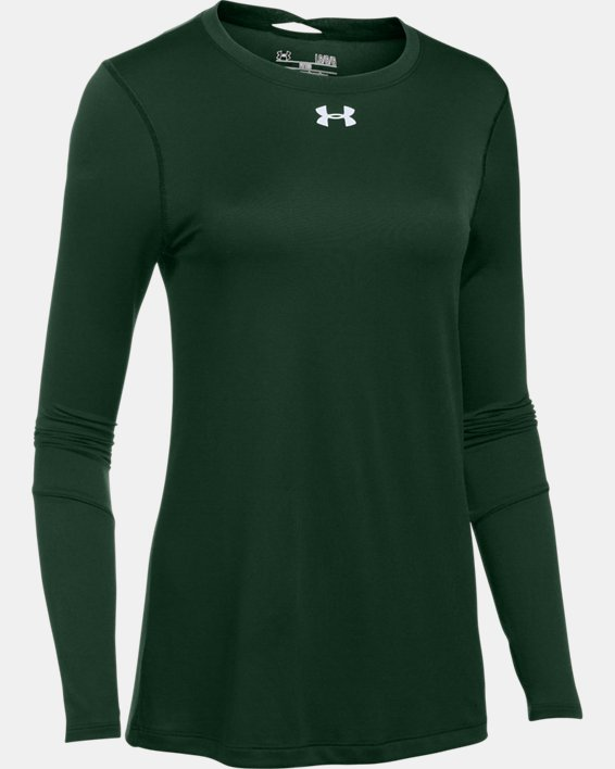 Women's UA Locker 2.0 Long Sleeve, Green, pdpMainDesktop image number 5
