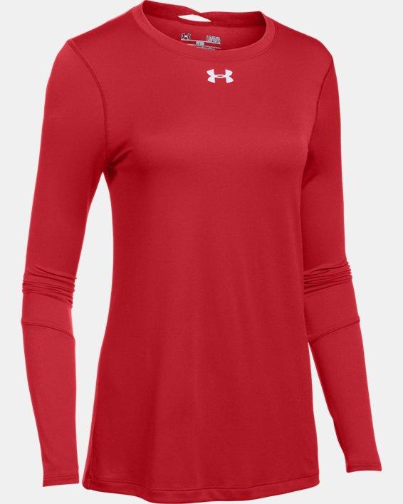 Women's UA Locker 2.0 Long Sleeve, Red, pdpMainDesktop image number 5
