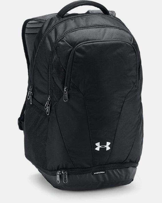 UA Team Hustle 3.0 Backpack, Black, pdpMainDesktop image number 0