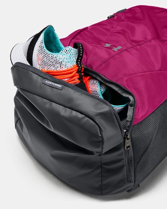 UA Team Hustle 3.0 Backpack, Pink, pdpMainDesktop image number 2