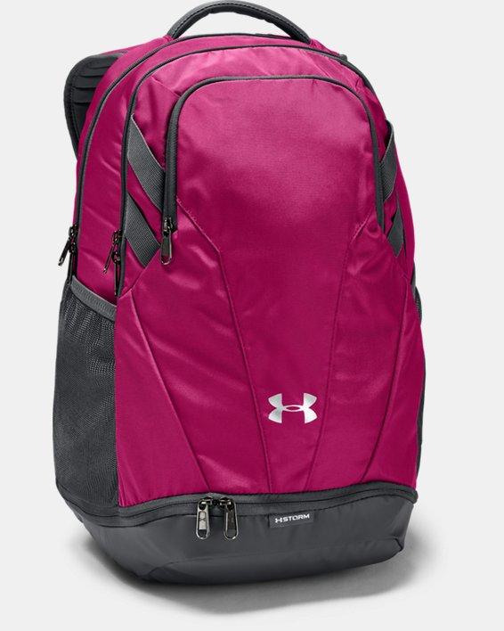 UA Team Hustle 3.0 Backpack, Pink, pdpMainDesktop image number 0