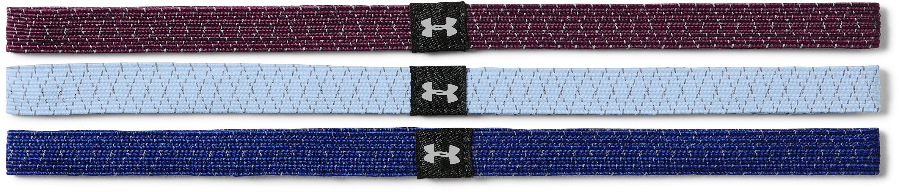Women's UA Reflective Mini Headbands - 3 Pack, FORMATION BLUE,