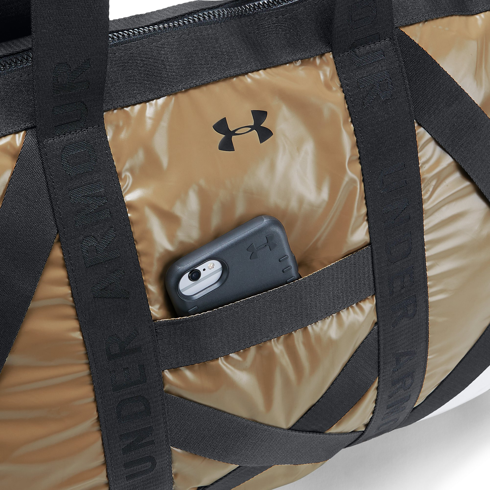 Women's UA Beltway Gym Bag, METALLIC VICTORY GOLD,