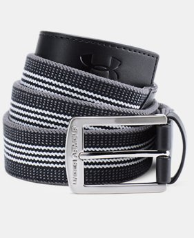 Men's UA Striped Performance Stretch Belt  1  Color Available $35