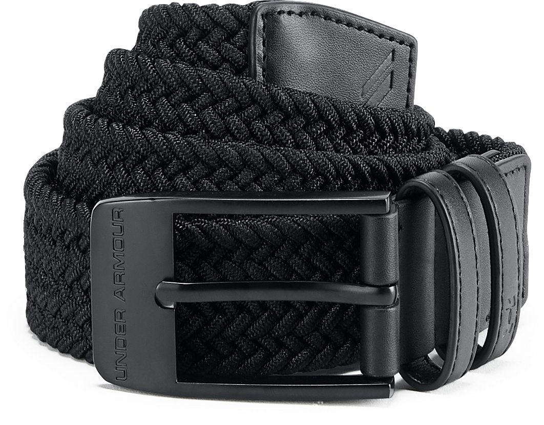 Men's UA Braided Belt 2.0, Black ,