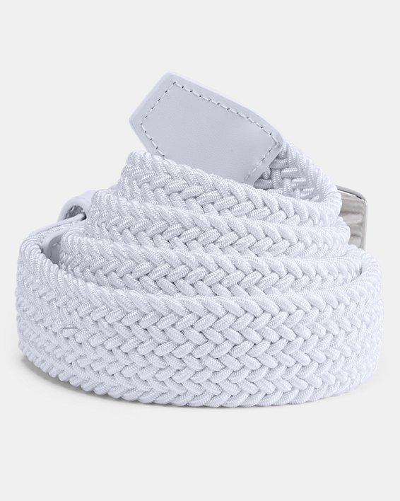 Men's UA Braided Belt 2.0, White, pdpMainDesktop image number 1
