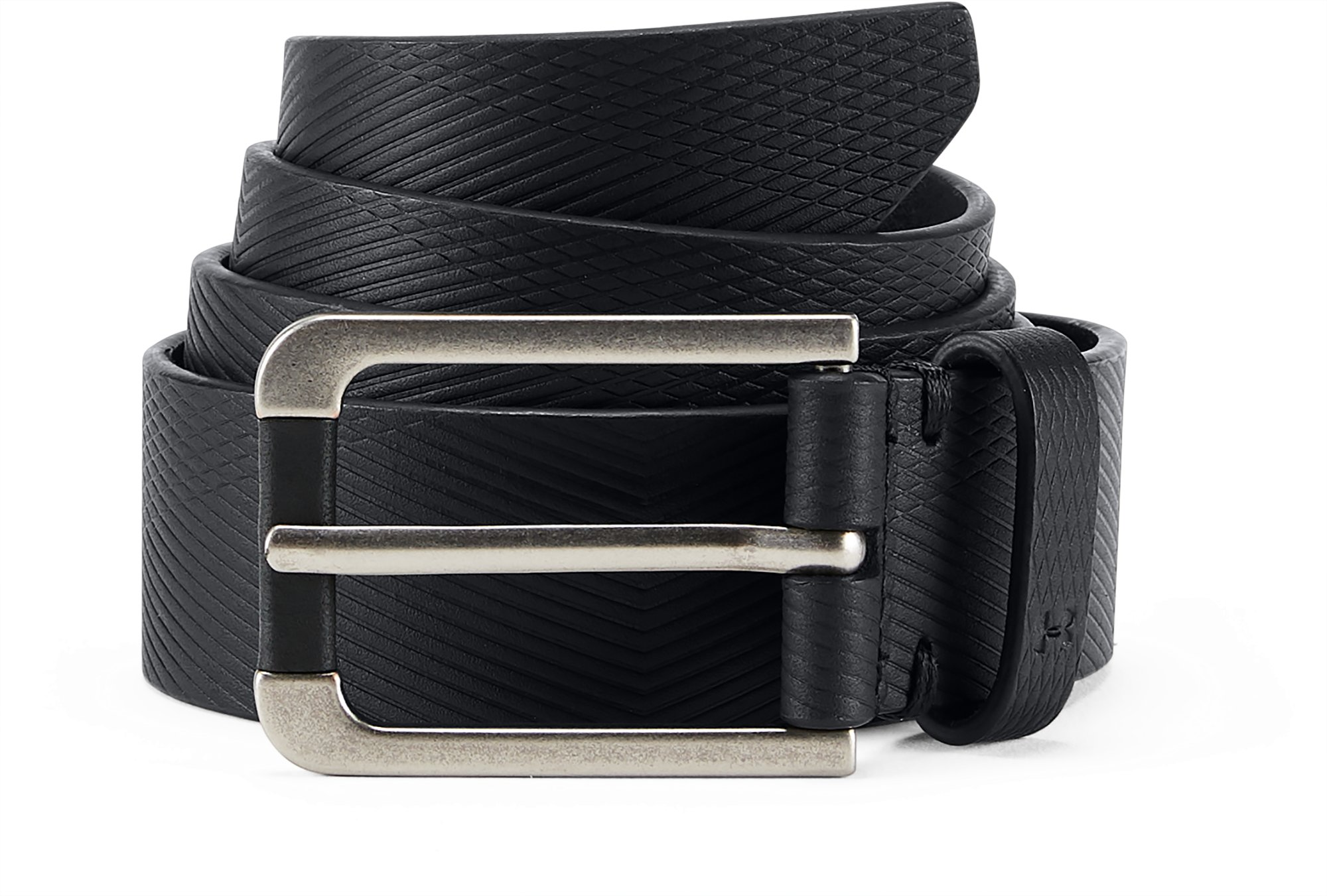 Men's UA Debossed Leather Belt, Black ,