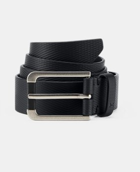 Men's UA Debossed Leather Belt   $50