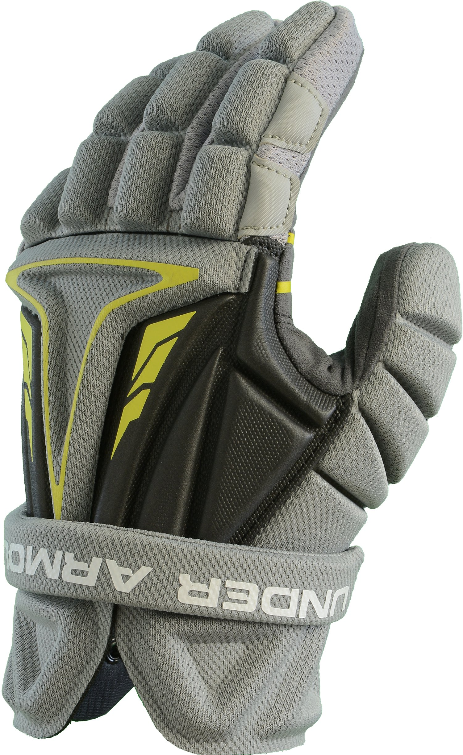 Boys' UA NexGen Lacrosse Gloves, Graphite