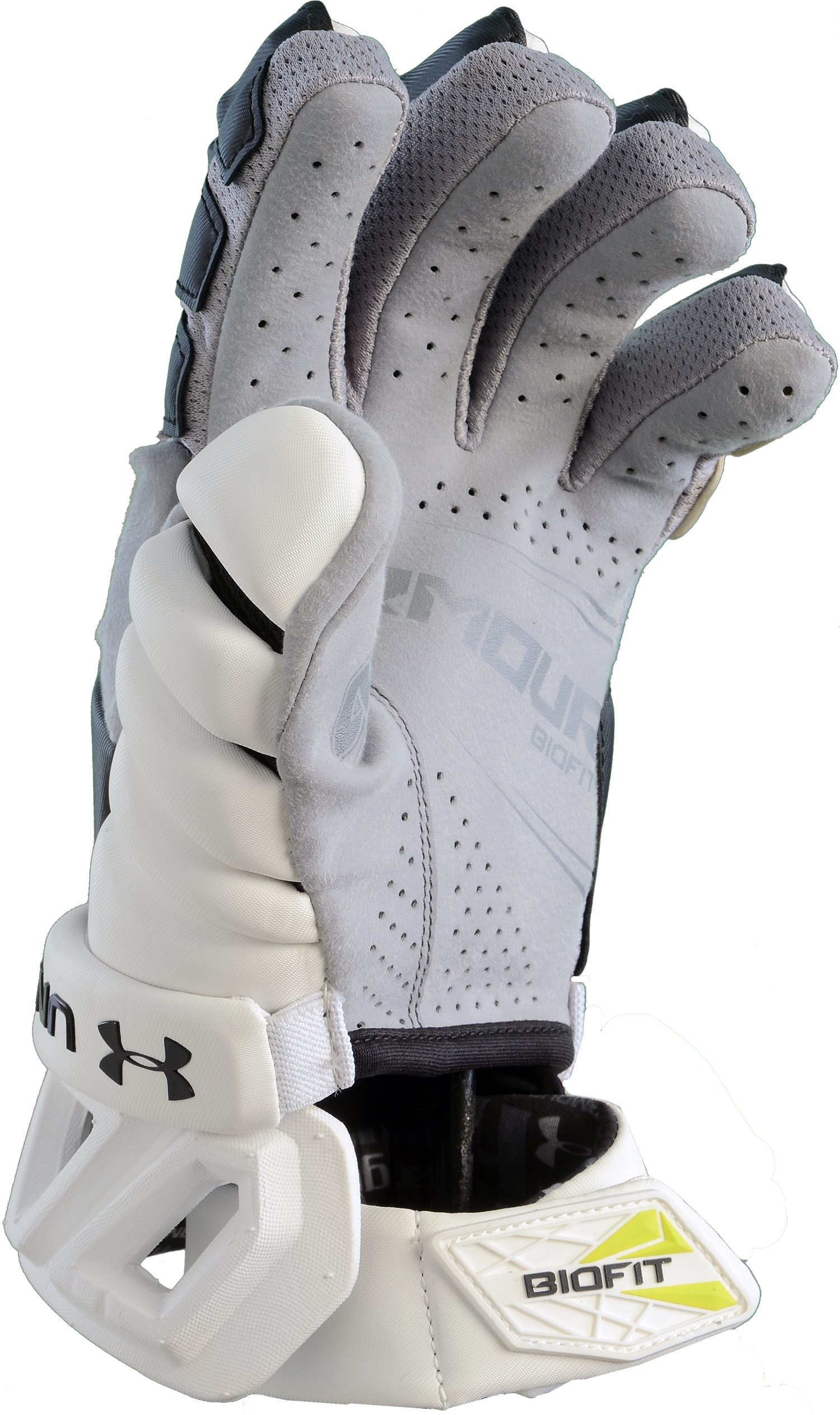 Men's UA Biofit Lacrosse Gloves, Black , undefined
