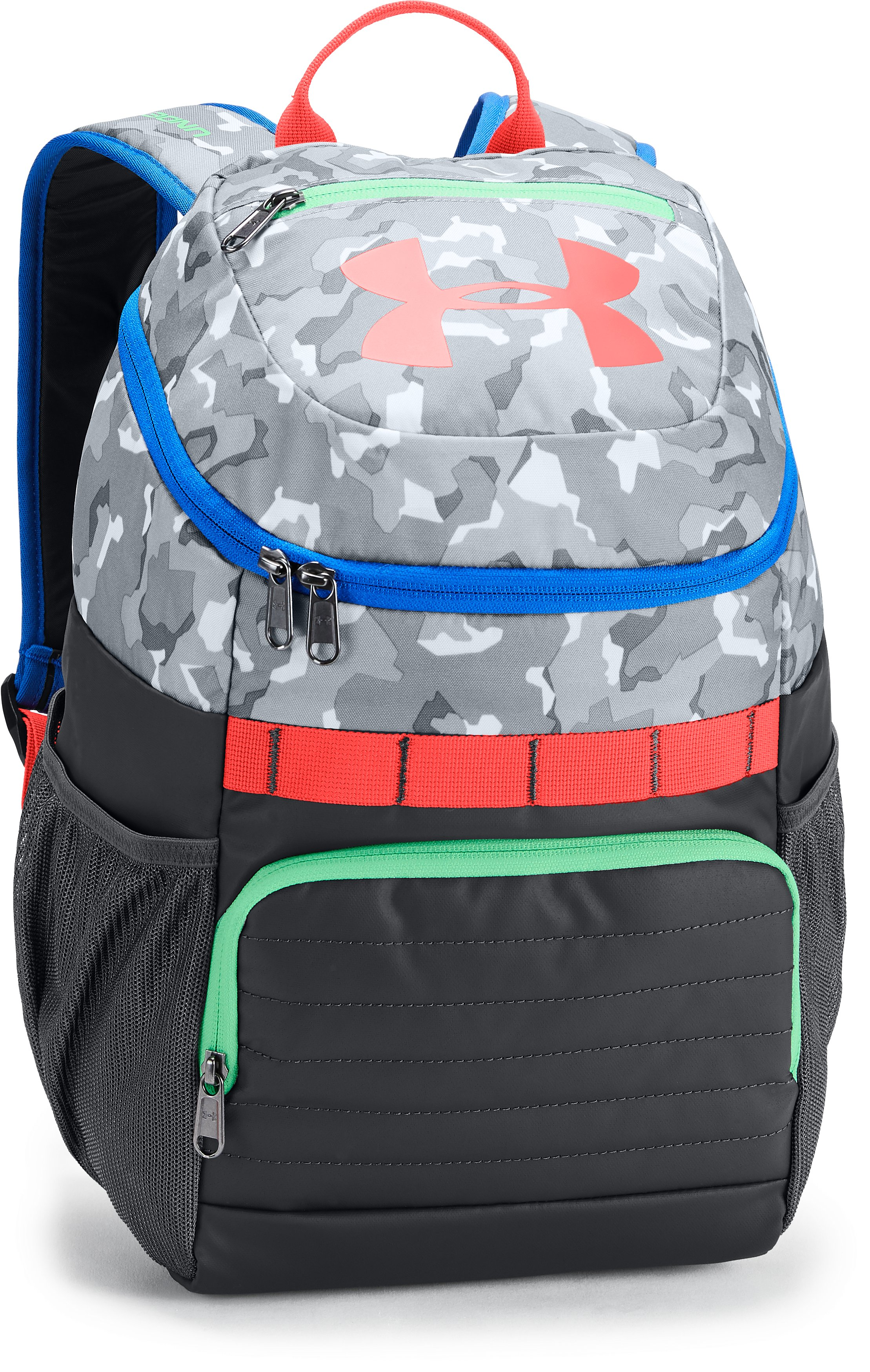 Kids' UA Large Fry Backpack, White,