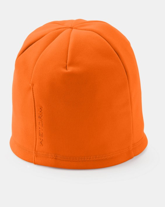 Women's  UA Storm Fleece Beanie, Orange, pdpMainDesktop image number 1
