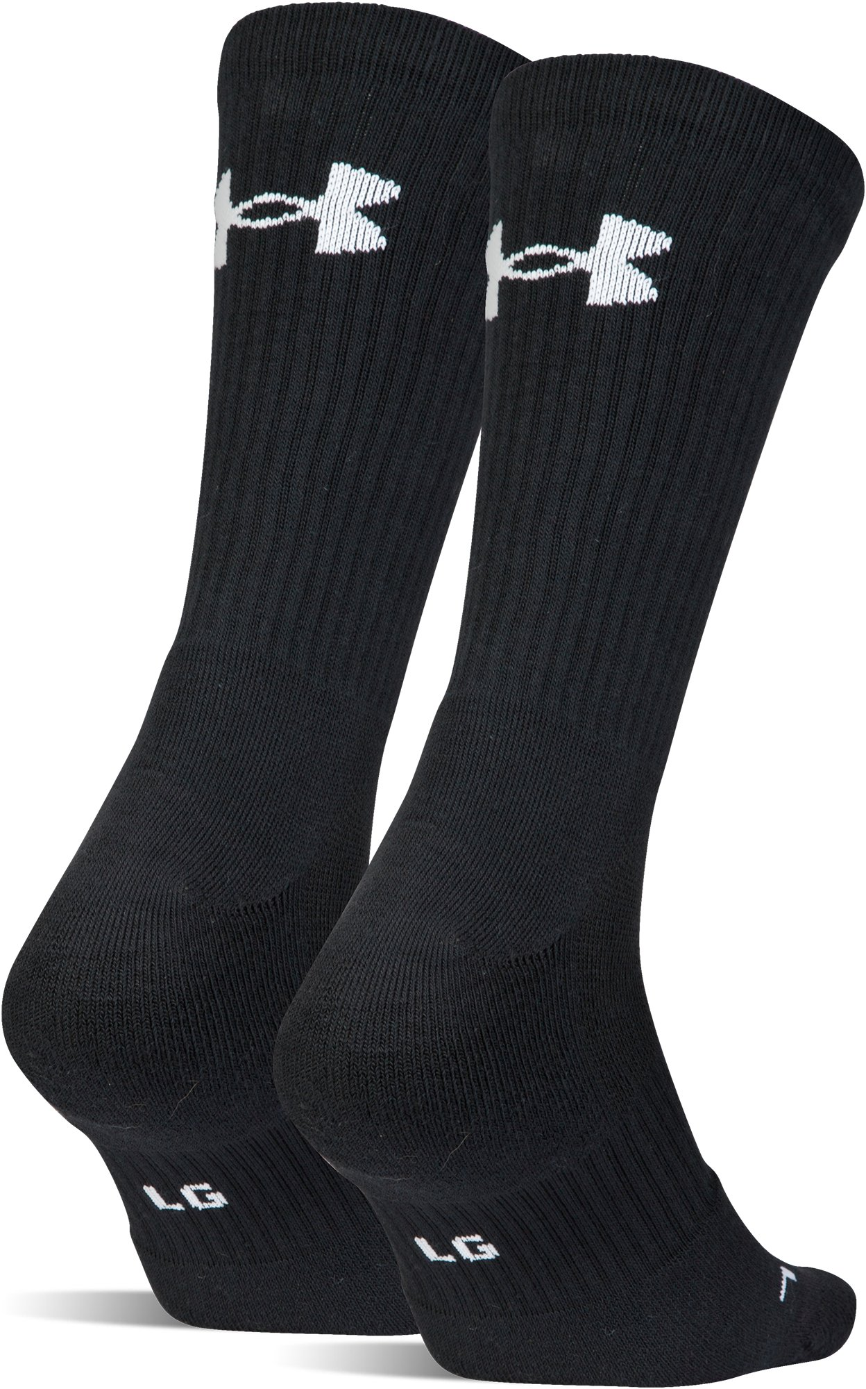UA Train Crew Socks – 2-Pack, Black ,