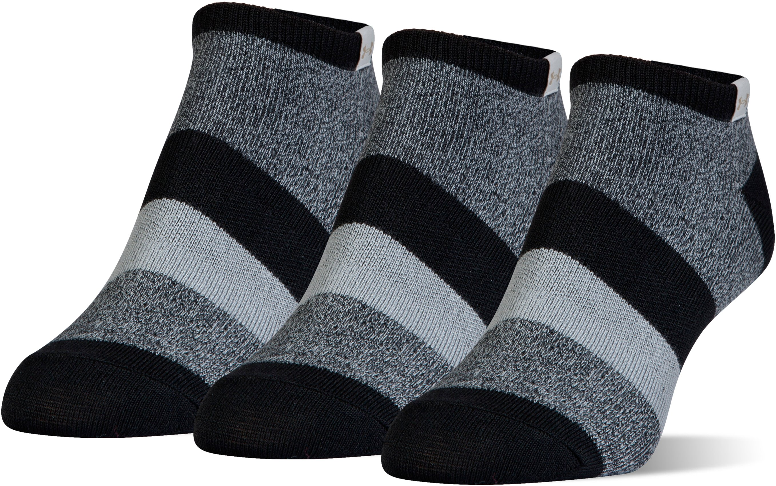 Women's UA Essential Comfort No Show Socks, Black
