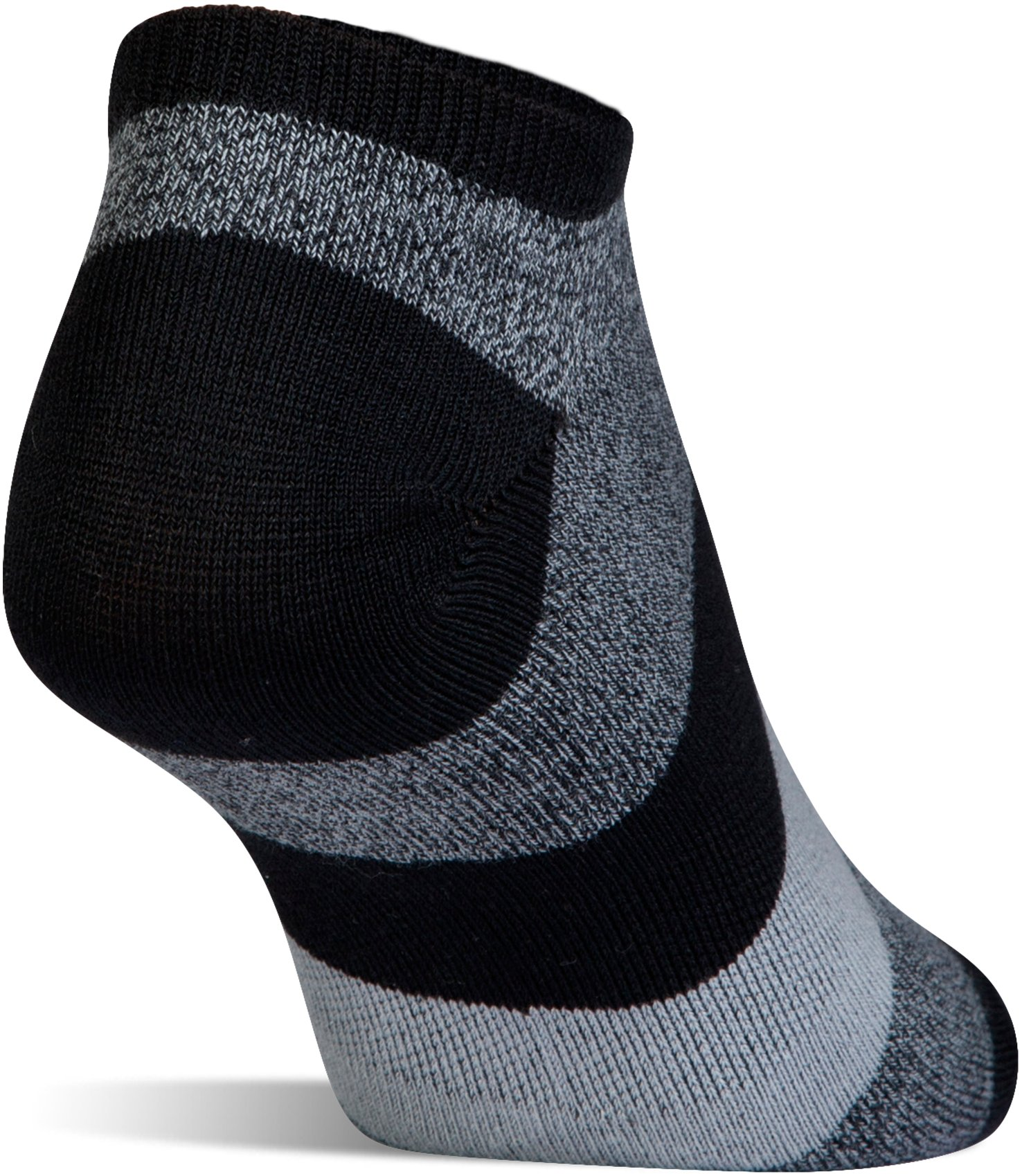 Women's UA Essential Comfort No Show Socks, Black ,