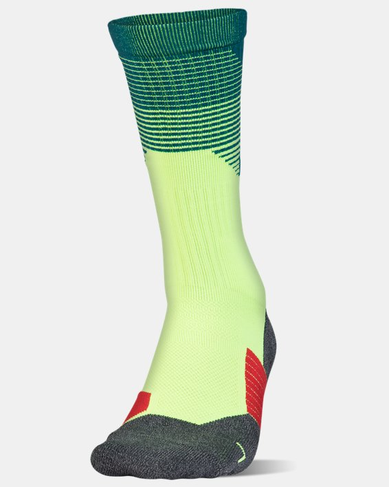 Adult UA ArmourGrip® Crew Socks, Green, pdpMainDesktop image number 0