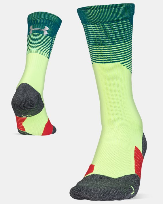 Adult UA ArmourGrip® Crew Socks, Green, pdpMainDesktop image number 4