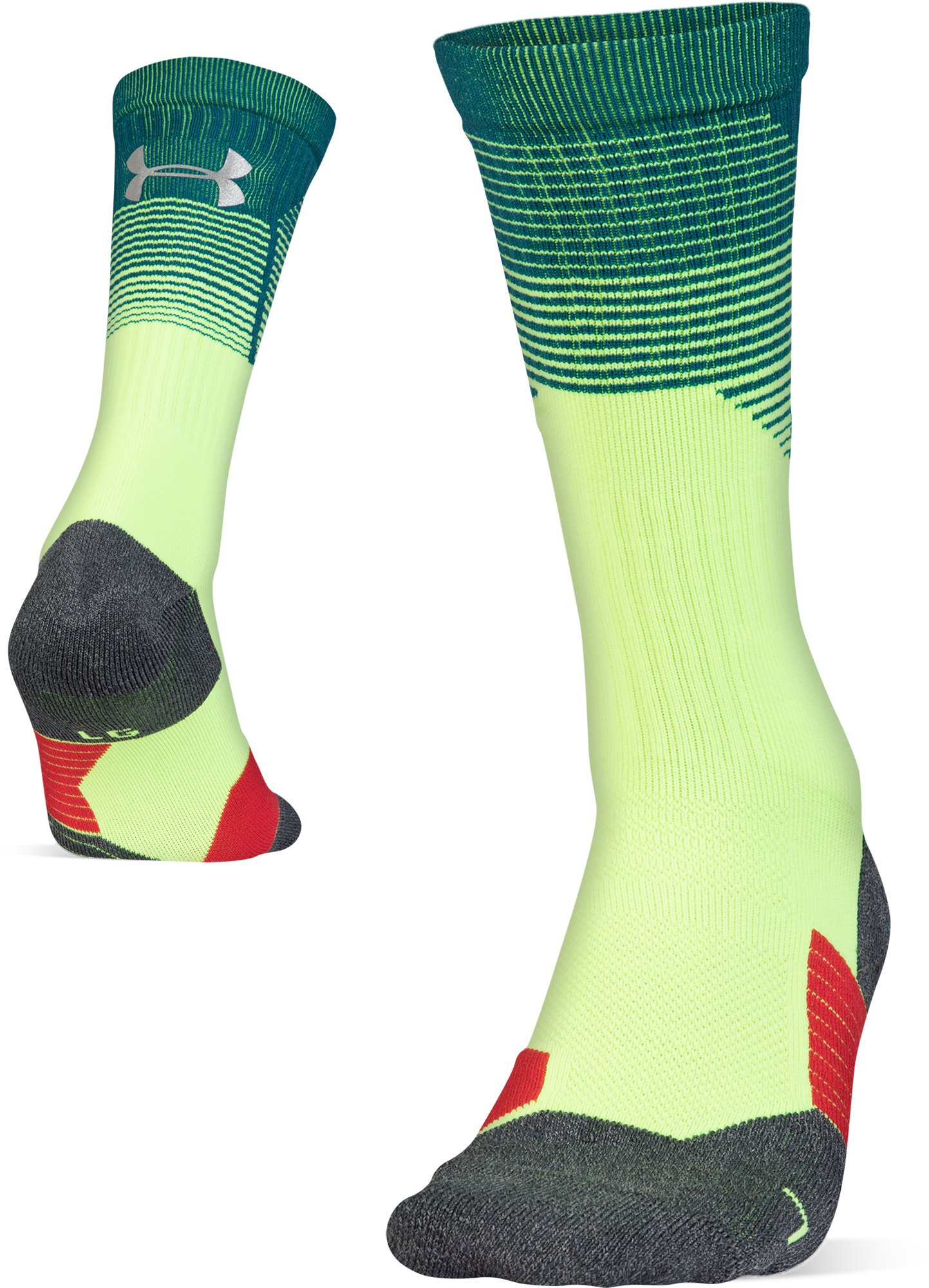 Adult UA ArmourGrip® Crew Socks, QUIRKY LIME, zoomed