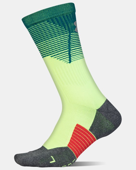 Adult UA ArmourGrip® Crew Socks, Green, pdpMainDesktop image number 3