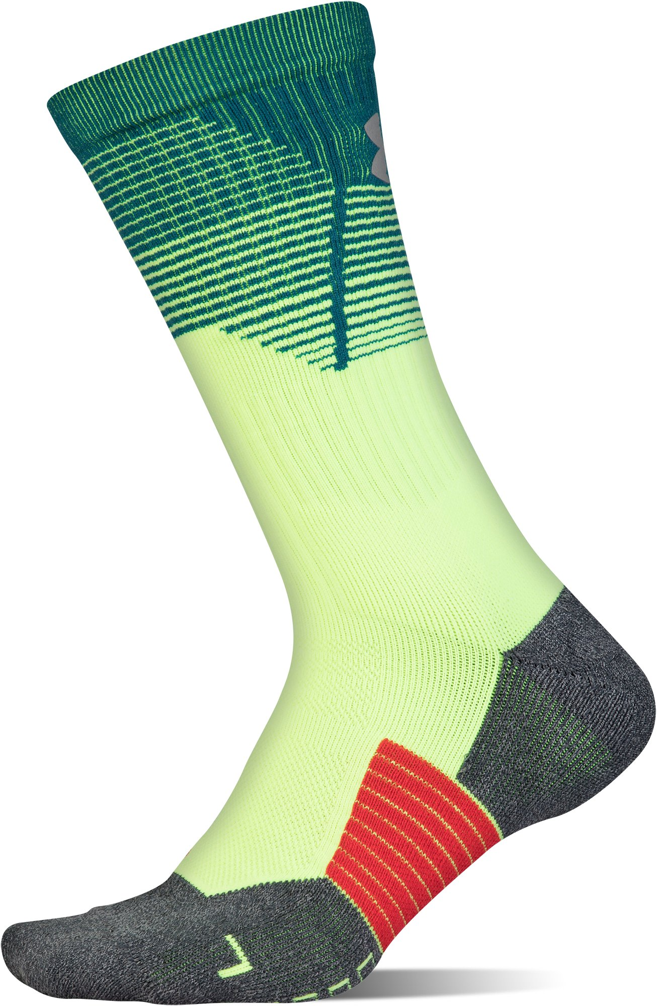 Adult UA ArmourGrip® Crew Socks, QUIRKY LIME,